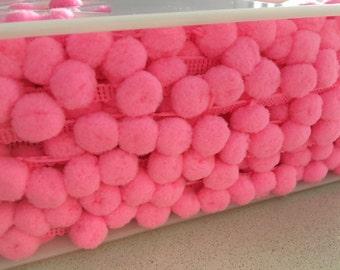 Baby Pink Pom Pom Trim