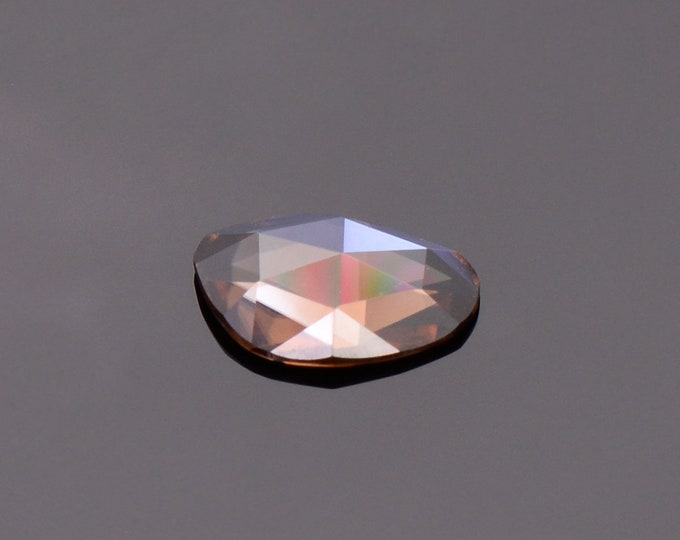 Gorgeous Mocha Zircon Gemstone from Tanzania, 1.50 cts., 9.5 x 6.3 mm., Freefrom Rose Cut.