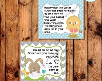 Easter Scavenger Hunt; Easter Basket Hunt; Easter Bunny; Easter Chick: Clue Cards; Easter Clue Cards
