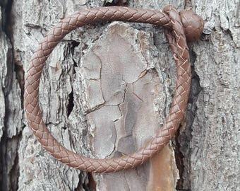 Base Bracelet in Brown, Kangaroo Leather