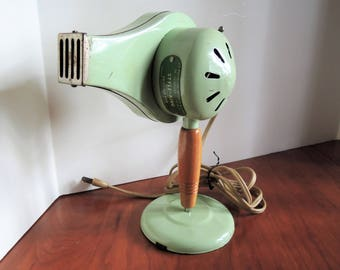 Hairdryer, Style-King, mint green, Working condition, Beauty shop prop, Vintage