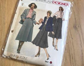Vintage vogue american designer sewing pattern