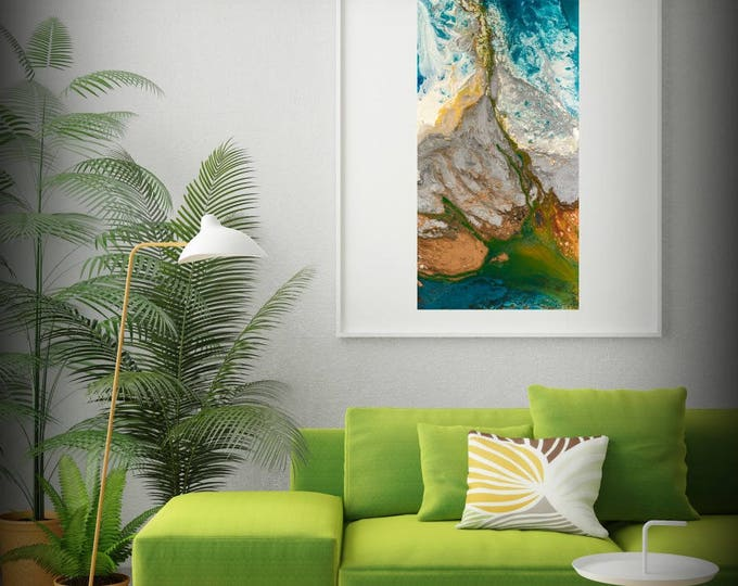 Abstract Painting Print, Art Painting, Nature Painting, Minimalist Art, Colorful Painting, Wall Prints, Wall Decor Living Room Gift for Mom