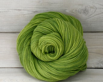 Athena Sock - Hand Dyed Superwash Merino Nylon Fingering Sock Yarn - Colorway: Sprout