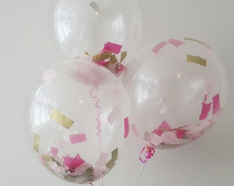 "16"" Clear Balloons with Thick Confetti inside for weddings, birthdays party decor"
