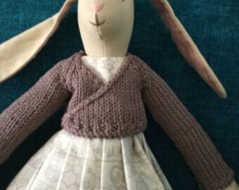 Maileg Medium Bunny Christmas Dress and Ballerina Wrap Cardigan Set