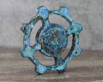 Turquoise Patina - Flare Spinner #1