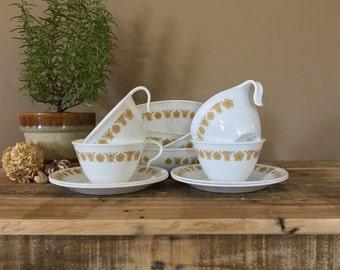 Vintage Cup and Saucer Set / Demittase Cup Set / Vintage Coffee Mug Set / Coffee Cup Set / Eapresso Mugs / Vintage Coffee Cups / Demitasse