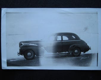 White-Out... 1940's Vintage Photo... Original Vintage Snapshot Photograph... Vintage Truck