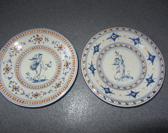 2 porcelain hand painted charger