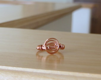 Simple Swirled Copper Wire Wrapped Ring