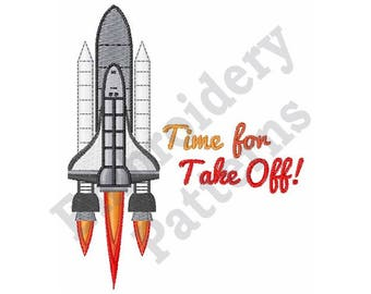 Time For Take Off - Machine Embroidery Design