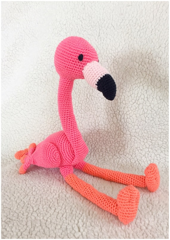 Flamingo häkeln Muster Amigurumi häkeln Tutorial Pdf-Datei im