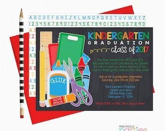 Kindergarten Graduation Invitation, Kindergarten Invite, Last Day of School, Graduation Invites, Grad Party Invites, Grad Party, Grad |428