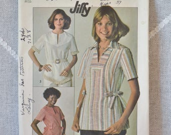 Vintage Simplicity7894 Sewing Pattern Misses Tops Size 10 Crafts  DIY Sewing Crafts PanchosPorch