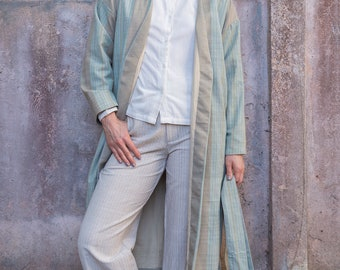 Kimono Coat from Handwoven Cotton - Klai Kimono Coat | Monta