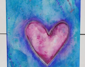 Alcohol Ink Heart