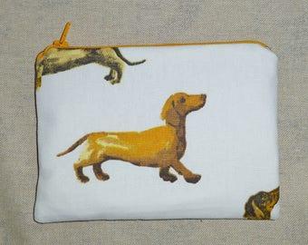 Sausage Dog Coin Purse, Dachshund Coin Purse, Dax Coin Purse, Wiener Dog MakeUp Bag, Dachshund Make Up Bag, Dax Make Up Bag, Dax Lovers
