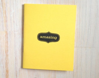 Medium Notebook: Amazing, Yellow, Simple, Writing, Blank Journal, Wedding, Favor, Journal, Blank, Unlined, Unique, Gift, Notebook, BBBB227