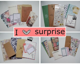Surprise planner's fun kit of paper and stationary goodies