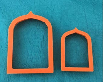 Jewelry Sized Arch Shrine Graduated Set Of 2 Cutters For Polymer Clay And Mixed Media