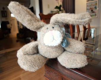 Country Decor Stuffed Bunny Rabbit - Easter Bunny Plushie