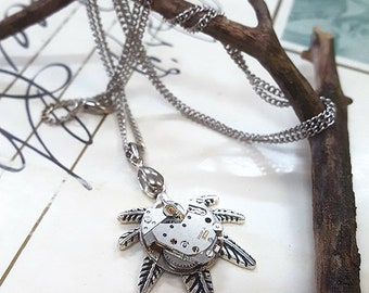Steampunk Mary Jane Necklace Pendant -Watch Part Necklaces- Amazing jewelry Gifts for Marijuana Leaf Steampunk Lovin, Marijuana Fashion