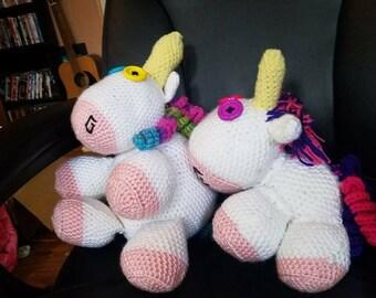Crocheted Stuffed Unicorn