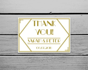 Printable 1920s Great Gatsby Thank You Card