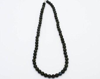 Jade Bead Necklace, Green Jade Necklace, Nephrite Jade Beads, Jade Jewelry,Green Jade Jewelry On Sale,Long Necklace Beaded,Healing Jewelry,