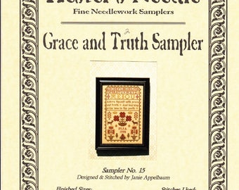 Hester's Needle ~ Grace and Truth Sampler ~ Counted Cross Stitch Sampler Pattern Chart