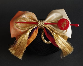 Ribbon Kanzashi(簪) Japanese Hair Accessories Nostalgic Japanese style Ribbon Kanzashi is an elegant accent!