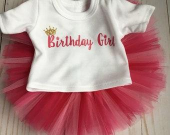 18 inch Doll Birthday Shirt and Tutu