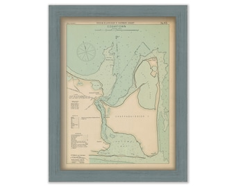 Edgartown Martha's Vineyard - Nautical Chart by George W. Eldridge 1901 0342