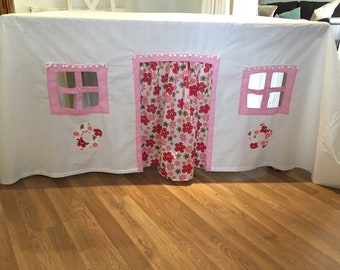 Fabric Playhouse,  Tent,Fort, Tablecloth playhouse, Table Playhouse , Overtable Playhouse, playhouse, indoor/outdoor playhouse