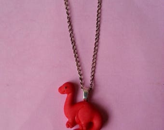 Pendant - Red dinosaur