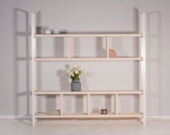 Shelf made of reclaimed wood and iron SUSTEREN WIT