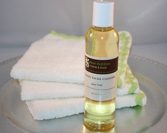 Organic Facial Cleanser - Oil Face Wash, Customized for Your Skin Type, 4 oz