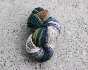 Hand-spun Yarn - Worsted weight - Loop Gradient - approx. 190 yds.