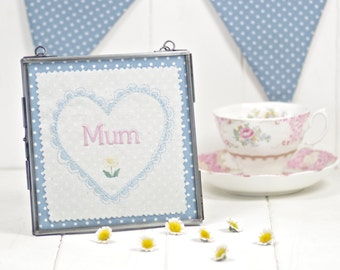 Personalised Wall Hanging, Embroidered Wall Hanging, Mother's Day Gift, Wall Art