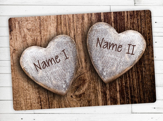 """Mat """"Love"""" with your name or wish text"""