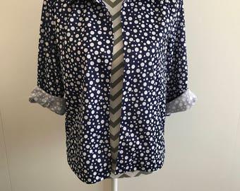 vintage 80s 90s polka dot spotty summer jacket