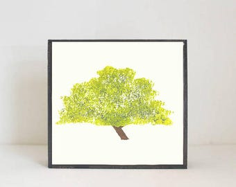woodland nursery art- mesquite tree art print- forest decor- nursery woodland art- tree print- nursery forest -tree decor- redtilestudio