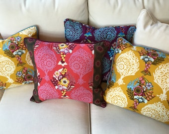 CUSHION cover Piped Anna maria Horner Innocent Crush Patchwork New Original