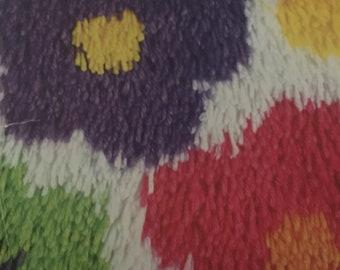 12x12 Shag Rug floral