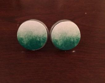 It Ain't easy being Green: stud earrings