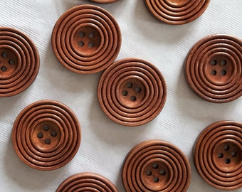10 Wood buttons  1 inch wooden buttons for hats big wood button for headband craft wood buttons for patterns wood buttons for slouchy hat
