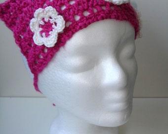 Rosa Kopftuch für Kleinkind - versandbereit