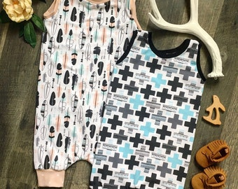 Sleeveless Harlem Romper - Shorts