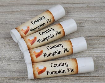 Country Pumpkin Pie Flavored Lip Balm - Handmade All Natural Lip Balm